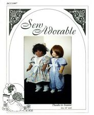 "Sew Adorable Doll Clothes Pattern. fits 18"" American Girl, Thanks to Jeanne"