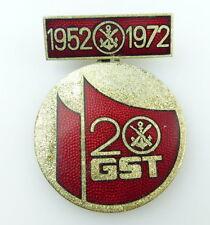 #e2565 20 anni GST 1952-1972 MEDAGLIA DDR/DISTINTIVO