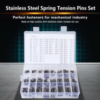 280Pcs Stainless Steel Split Spring Dowel Pin Tension Roll Pins Box Set M1.5-M8