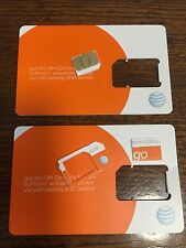 NEW AT&T Go Phone Micro SIM Card  3FF COMPATIBLE WITH ALL PHONES USING MICRO