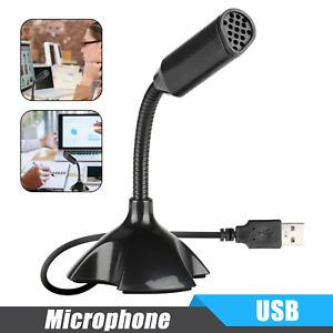 Mini Flexible USB Recording Studio Microphone Mic for Laptop Desktop Notebook PC