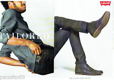 PUBLICITE ADVERTISING 086  2012  les jeans homme Levi's  ( 2p)  Taillored