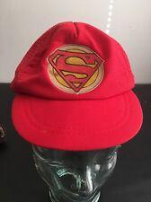 Vintage Kids SnapBack Trucker Superman Hat
