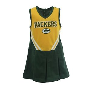 Green Bay Packers NFL Infant Toddler Cheerleader Outfit Combo Set with Bottoms