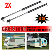 2X Campervan Caravan Gas Locker Spring Strut 150N Universal Support Arm  !!