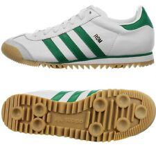Adidas Rom White Green Men's leather Low-Top sneakers leisure Shoe Footwear