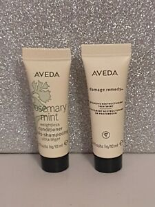 Aveda Rosemary Mint Conditioner & Damage Remedy Hair Treatment 10ml Each  NEW