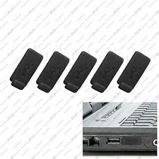 5 x Black Color RUBBER SILICONE ANTI-DUST USB PLUG COVER STOPPER for PC Laptop