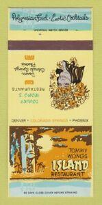 Matchbook Cover - Tommy Wong's Island Denver Phoenix Tiki 30 Strk SAMPLE