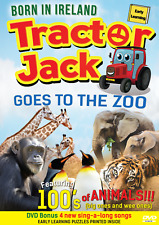TRACTOR JACK Goes To The Zoo CHILDREN'S DVD with bonus songs & 100s of Animals