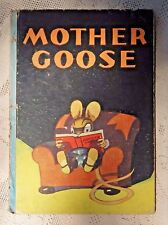 VINTAGE 1932  EDITION - MOTHER GOOSE RHYME BOOK - ILLUSTRATED - WHITMAN PUB. CO.