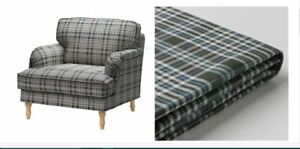 IKEA Stocksund NEW Chair Segersta PLAID Cover for Armchair,MultiColor 204.137.97
