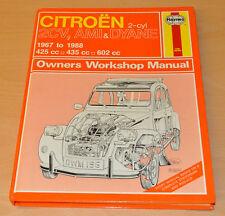 Citroen 2CV AMI DYANE 1967- 1988 Reparaturanleitung Haynes H196 Repair Manual