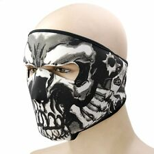 US Sports Skull Half Face Mask Motorcycle Cycling Bike Ski Snow Headwear Outdoor
