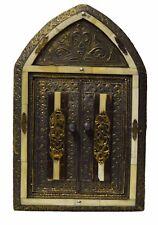 Mediterranean Wall Mirror w/Doors Camel Bone Moroccan Decor Handmade Med Natural