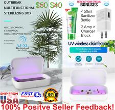 3 in 1 - UV Ultraviolet Sterilizer Box, Qi 10W Wireless Charger & Aroma Diffuser