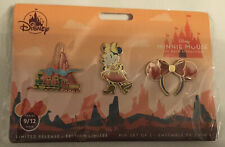 Minnie Mouse The Main Attraction Big Thunder Mountain Railroad Three Pin Set NEW