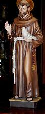 Heiliger Franziskus, Heiligenfigur, St. Francis, Neu, Holz, wood