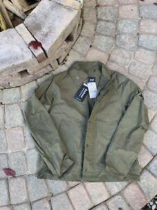 NWT Barbour x Engineered Garments Graham Unlined Jacket Coat Waxed Green