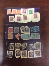 US Canada Stamp and Stamp Pieces Lot 25+ Pieces Philately Vintage Collectible