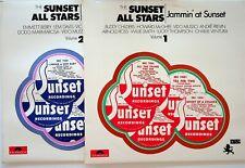 THE SUNSET ALL STARS Jammin at/Jazz Vol.1 & 2 Dodo Marmarosa Vido Musso 2-LP EX+