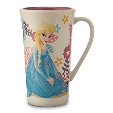 Frozen Elsa Floral 14 Oz. Ceramic Coffee Tea Latte Mug Cup New
