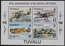 """Tuvalu: Michel Block-Nr. 63 """"80 Jahre Royal Air Force"""" aus 1998, postfrisch"""