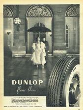 Publicité Advertising 028  1956  pneu Dunlop Flanc blanc