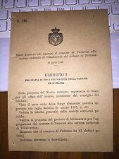 REGIO DECRETO  AGGR COMUNE di PADERNA alla sez elet VILLAVERNIA collegio TORTONA