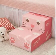 Pet Step Cover for Small Dogs - Pink Cat Cover Only - Washable