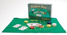 Juego de póquer tradiciones tradicional fieltro estera de fieltro Tarjetas & Chips viaje de fiesta perfecta