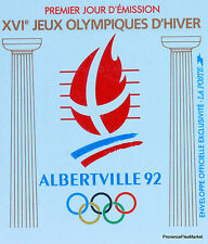 Yt 2632 A  FRANCE JEUX OLYMPIQUES ALBERTVILLE FDC ENVELOPPE 1° JOUR