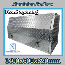 1400x600x820mm Aluminium Front Opening Toolbox 2.5mm Ute Tool box Truck