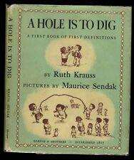 Krauss/Sendak: A Hole is to Dig HB/DJ True First without Grrr (1952)