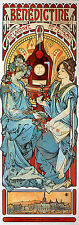 Alphonse Mucha Art Nouveau Deco Benedictine Reproduction Picture Giclee Poster