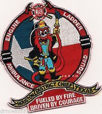"""Houston  Station-68  """"Fueled by Fire"""", TX  (4"""" x 4.5"""" size) fire patch"""