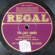 """78rpm 12"""" THE LOST CHORD / THE HOLY CITY G 1035 cornet solo"""