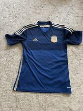 Argentina Soccer Jersey 2014 World Cup Navy Stripe Rare Medium