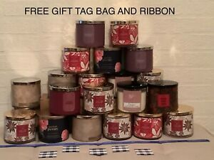 Bath and body works Candle 3 Wick Large With Free Gift bag tag and ribbon 2020