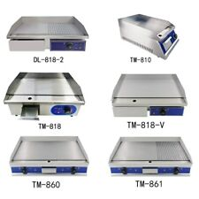 More details for commercial electric griddle kitchen hot plate countertop plancha bbq grill bacon