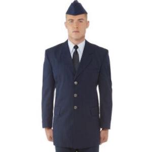 US Air Force USAF Dress Blue Service Military Uniform Men's Enlisted Coat Jacket