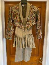 Blondie and Me Vintage Gold Dress Floral Jacket Size US 5 UK 8 10