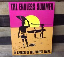 The Endless Summer Perfect Wave Sign Tin Vintage Garage Bar Decor Old Rustic