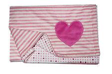 Nojo Little Love -Heart Double-Sided Soft  Baby  Blanket  - Stripes - polka dots