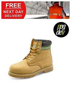 SAFETY FOOTWEAR WELT NUBUCK BOOT SHOE SIZES 6-12 HGGWBNBBS
