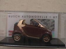 smart fortwo Cabrio - Busch 1:87 - Braun Bronce