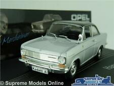 OPEL KADETT A MODEL CAR 1:43 SCALE SILVER IXO COLLECTION HANS MERSHEIMER K8