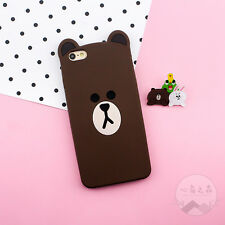 Cartoon Cute 3D Bear Rabbit Soft Silicone Case Cover for iPhone 5S 6 6S 7 8 Plus