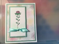 Stampin Up 5 Greeting Card Kit Flowering Fields Mint Macaron Watercolor Floral