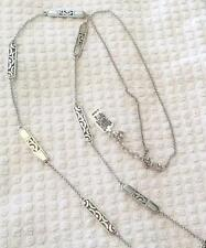 Brighton silver statement fashion necklaces pendants ebay brighton silver plated strandstring fashion necklaces pendants mozeypictures Images